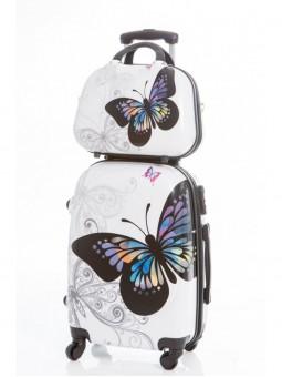 Set Neceser más Maleta Grande Mariposas