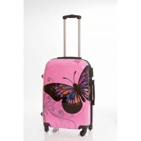 Maleta Rosa Grande Mariposas