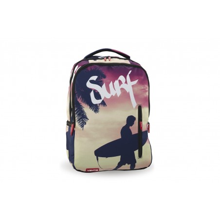 Mochila + Estuche + MP3 Ventis Sunset Surf