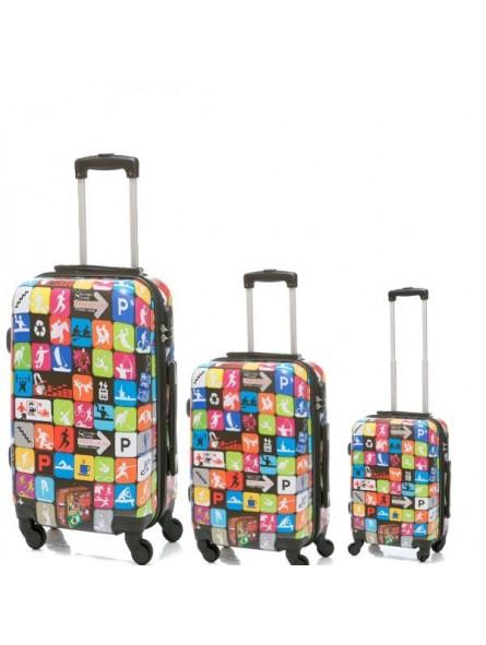 0ec194fb9 Juego de 3 Maletas Travel Icons