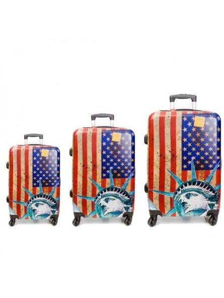 Juego de 3 maletas USA