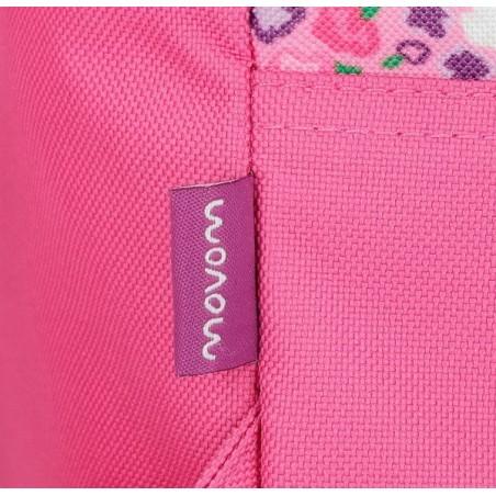 Mochila reforzada rosa Movom Nina y Mp3