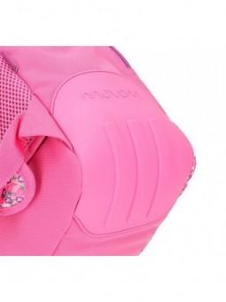 Mochila reforzada rosa con carro Movom Nina y Mp3