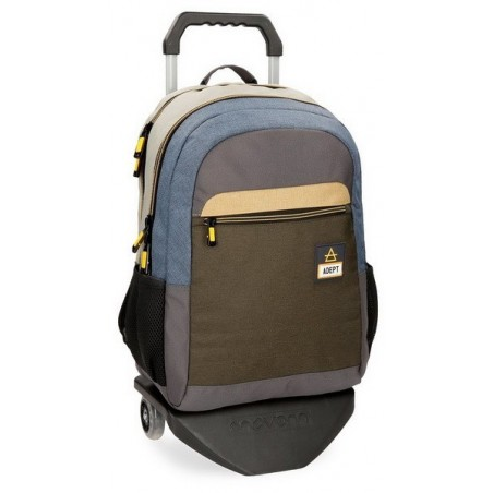 "Mochila doble don carro porta ordenador 15,6"" + MP3 Adept Camper"