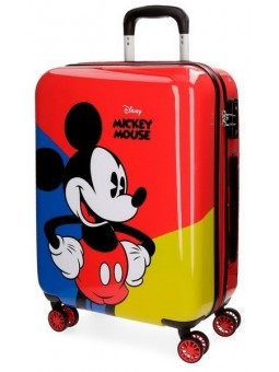 Maleta cabina + MP3 Mickey Red