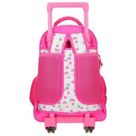 Mochila rosa con carro 2R Movom Confeti