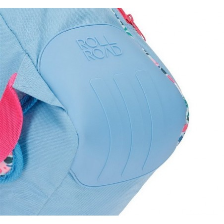 Mochila doble adaptable Roll Road Pretty Blue reforzada