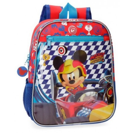 Mochila 28cm. adaptable + MP3 Disney Mickey Race
