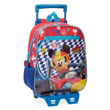 Mochila con carro 28cm. + MP3 Disney Mickey Race