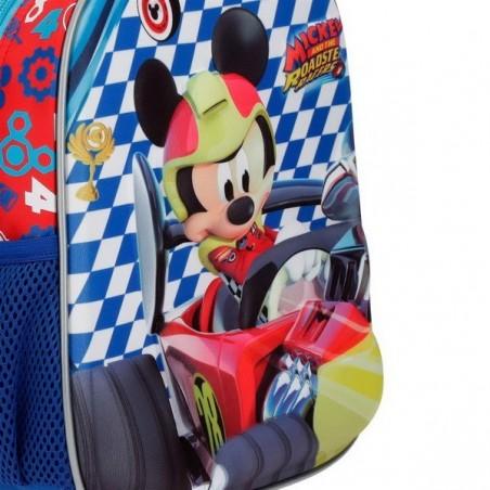 Mochila 33cm. + MP3 Disney Mickey Race