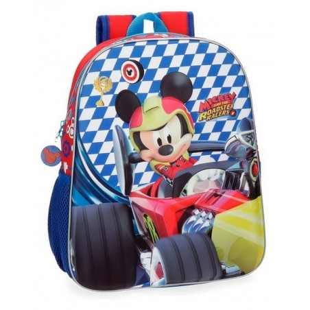Mochila adaptable 33cm. + MP3 Disney Mickey Race
