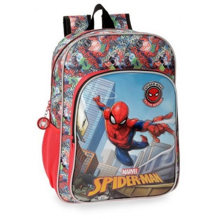Mochila 38cm. + MP3 Spiderman Grafiti