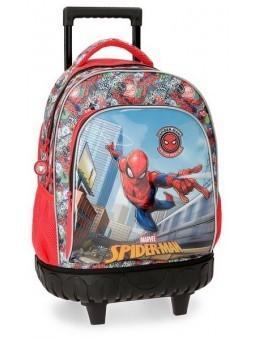 Mochila con ruedas + MP3 Spiderman Grafiti