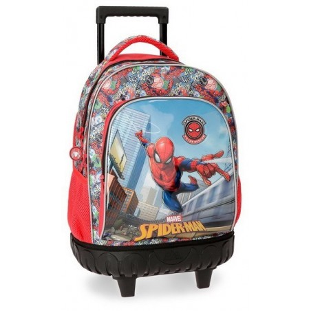 Mochila con ruedas + MP3 Spiderman Grafiti