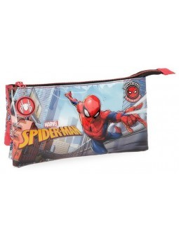 Estuche triple Spiderman Grafiti