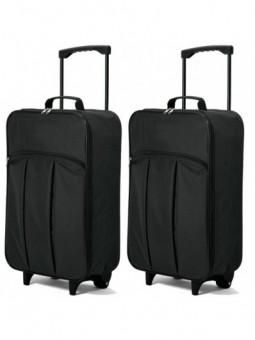 Juego de 2 maletas plegables