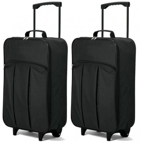 Juego de 2 maletas cabina plegables low cost
