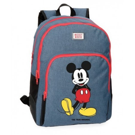 Mochila doble adaptable + MP3 Disney Mickey Blue