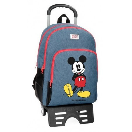 Mochila doble con carro Disney Mickey Blue