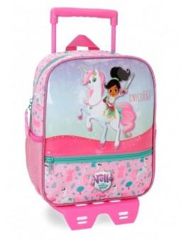Mochila con carro 28 cm. + MP3 Nella Dreams of Unicorns