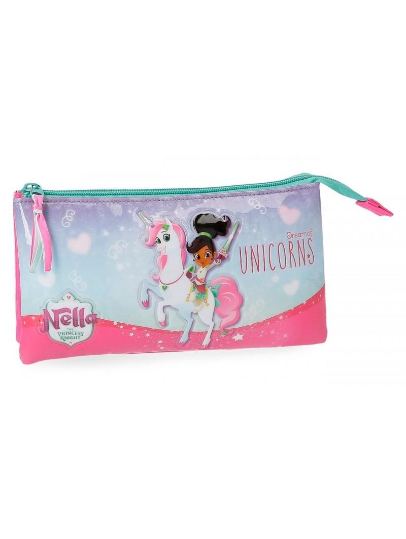Estuche neceser triple Nella Dreams of Unicorns