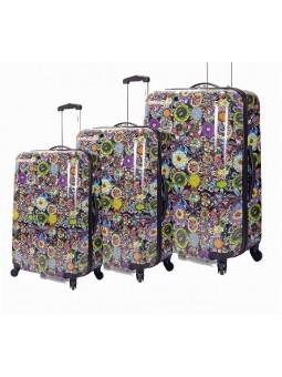 Juego de maletas Flores