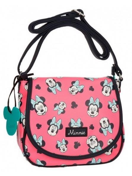 Bolso bandolera 23x20 cm. Disney Minnie Mouse Wink