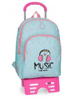 Mochila reforzada con carro Roll Road Music
