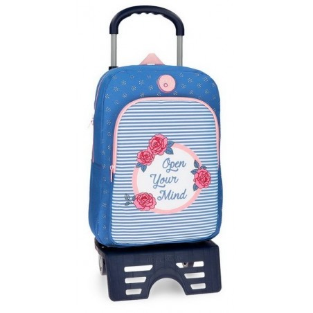 Mochila mediana con carro Roll Road Rose