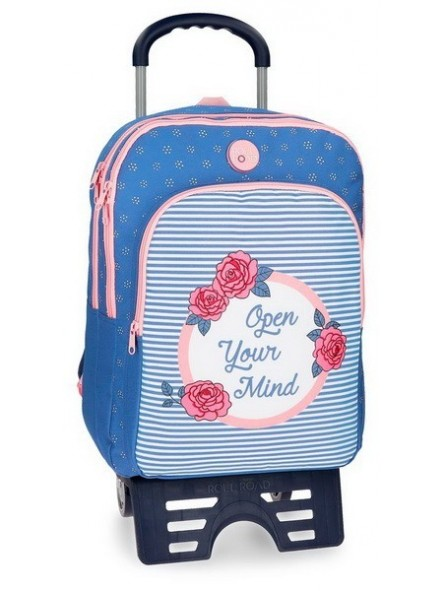 Mochila mediana doble con carro Roll Road Rose