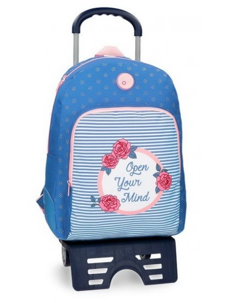 Mochila reforzada con carro Roll Road Rose