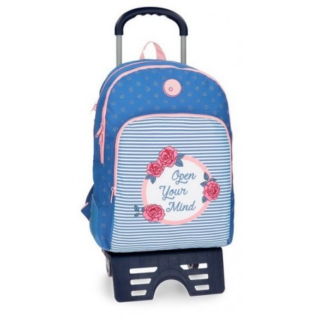 Mochila reforzada doble con carro Roll Road Rose