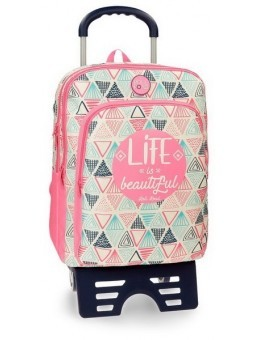 Mochila doble con carro Roll Road Life