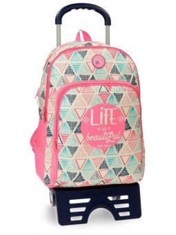 Mochila reforzada doble con carro Roll Road Life