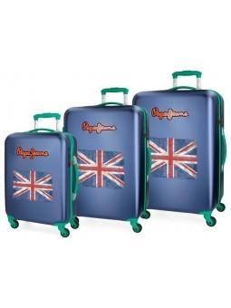 Juego 3 maletas Pepe Jeans Bristol Bandera