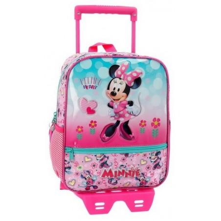 Mochila pequeña con carro Disney Minnie Heart