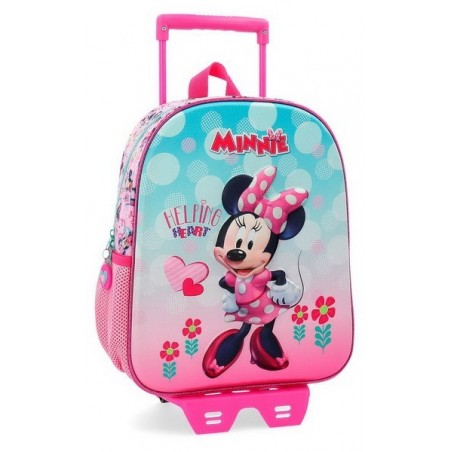 Mochila con carro Disney Minnie Heart