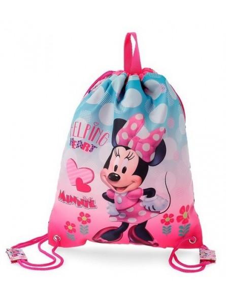 Mochila saco Disney Minnie Heart