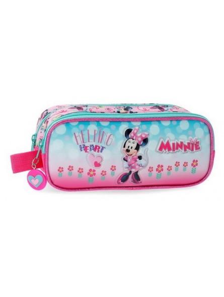 Estuche neceser doble Disney Minnie Heart
