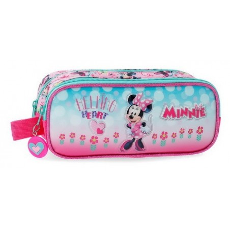 Estuche neceser doble Disney Minnie Heart