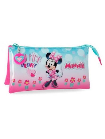 Estuche neceser triple Disney Minnie Heart