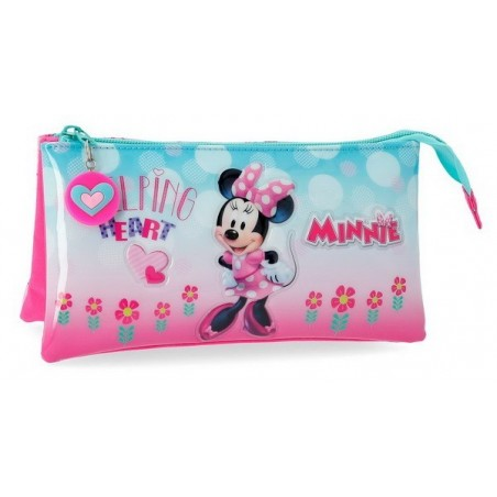 Estuche neceser triple Disney Minnie Heart