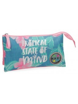 Estuche neceser triple Maui and Sons Tropical State
