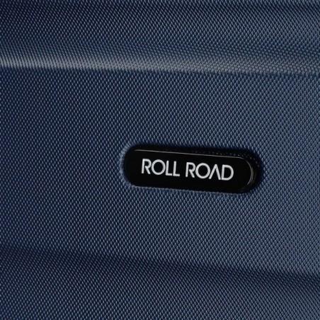 Maleta cabina Roll Road Flex marino.