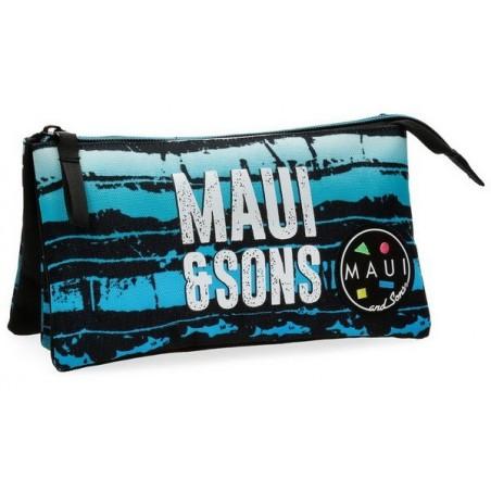 Estuche neceser triple Maui and Sons Waves