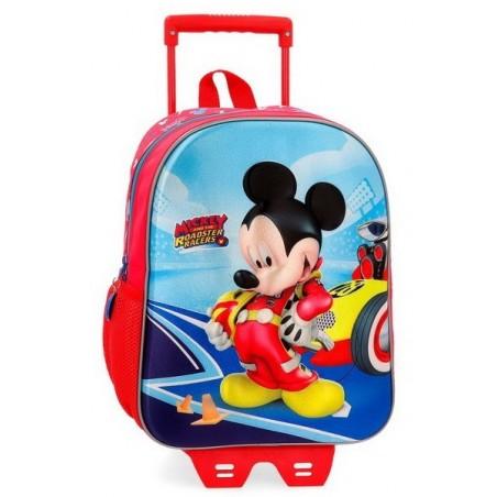 Mochila mediana con carro Disney Lets Roll Mickey