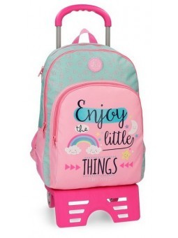 Mochila grande doble con carro Roll Road Little Things