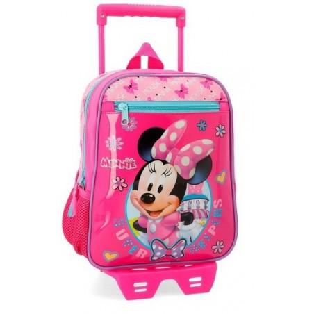 Mochila pequeña con carro Disney Minnie Super Helpers