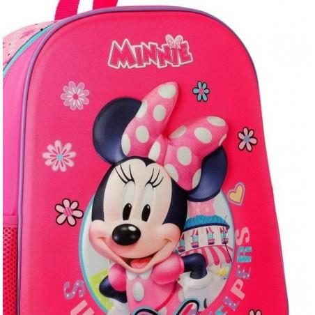 Mochila mediana con carro Disney Minnie Super Helpers