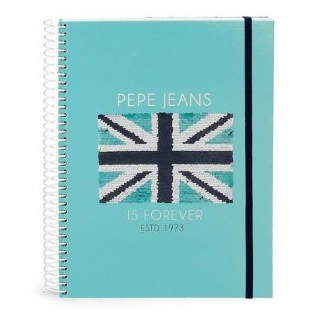 Cuaderno espiral A5 con goma Pepe Jeans Cuore